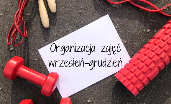 Organizacja zajęć fitness od września do grudnia